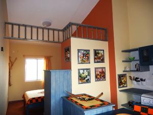 Ferien-Appartement-Strela-Maio-Blick-Essbereich-Schlafen